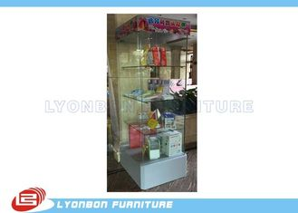 China Glass gift display cabinet with LED light customized for retail shop supplier