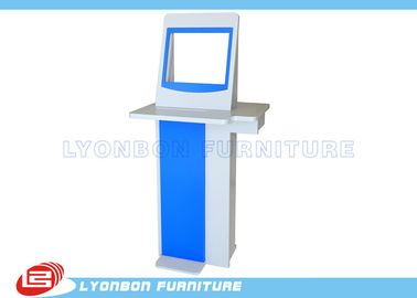 Blue Fashionable Advertisement Display Stands MDF Wood For Supermarket