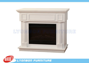 China Durable White Interior Room Decor MDF Fireplaces 1125mm * 320mm * 930mm supplier