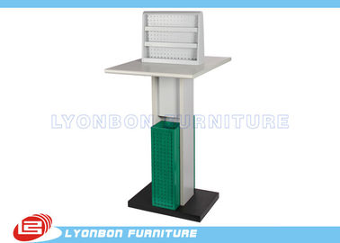 Public Place Service Advertisement Display Stands With White Green MDF