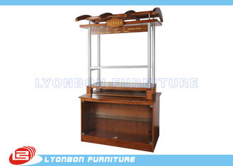 Mall Customized Wooden Kiosk / Perfume Display MDF , 1300mm * 600mm * 2200mm