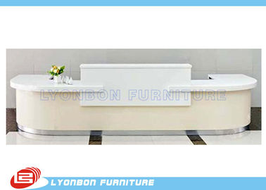 China White MDF Wood Reception Desk  supplier