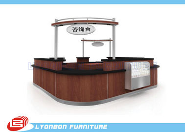 China Shopping Mall  Reclaimed Wood Reception Desk supplier