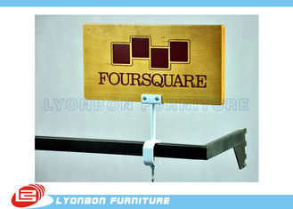 Exquisite Printing logo MDF Wood Display Stand Accessory Melamine Finished
