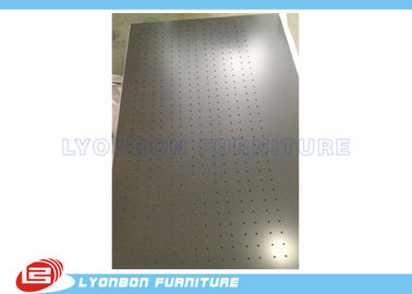 Custom Chocolate Wood MDF Display Pegboard For Display Accessory , OEM / ODM