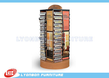 Rotatable Gondola Display Stands For Medicine , MDF / Metal Gondola Display