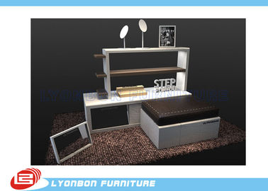 Durable Modern design Retail Gondola Display Stands MDF For Shoes Promotion