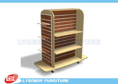 China Mall Center Clothing Slatwall Display Stands MDF , retail Gondola Display supplier