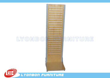 ISO Double side Slatwall Display fixtures / MDF Display Stand For Promotion