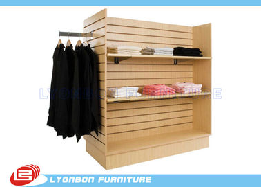China Supermarket SGS Slatwall Display Stands For T - Shirt , Custom Color Printing supplier