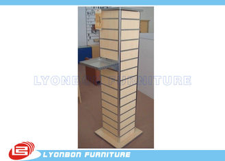 China Melamine Finished Slatwall Display Stands Customized With MDF / Metal supplier