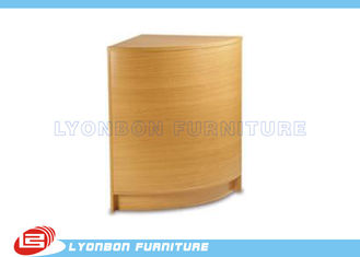 China Custom Design Curved Corner Infill Wood Counter MDF / Melamine Finished supplier
