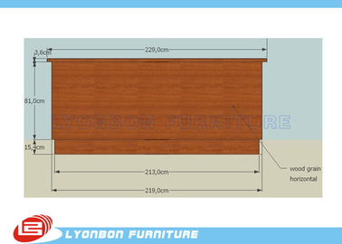 China SGS Customized MDF Cash Counter For Shop Payment / 2290mm * 6950mm * 1000mm supplier