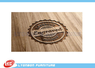 Durable Display Wood CNC Engraving Logo / Wood Label Sign For Exhibition