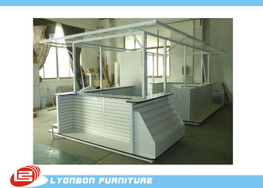 China ODM White MDF Wooden Kiosk Big Sized For Electronics Sales , Melamine Finished supplier
