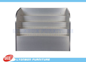 Silver Customized Advertisement Display Stands MDF With Logo Printing