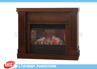 Decorative Brown MDF European Fireplace Heating For Home , Melamine finished