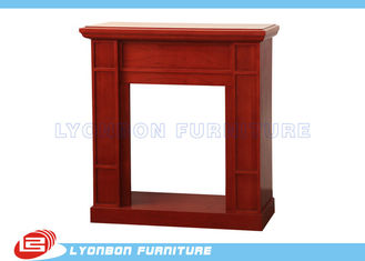 Modern Red Decorating Fireplace Mantels For Home , Polished Surface