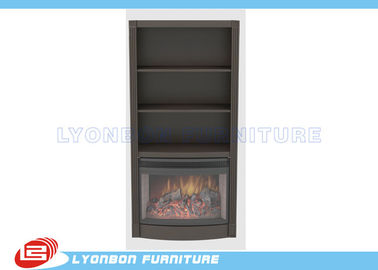 Grey Classic Home Decor Fireplaces MDF For indoor , Freestanding Wood Fireplace
