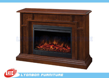 Living Room Home Solid Wood Veneer Decorating Fireplace / 1140mm * 330mm * 895mm