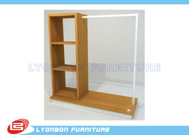 ISO Multi Functional Clothing Display Racks For Store , MDF Display Shelving