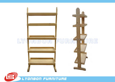 Stores Custom Color MDF Wooden Display Racks With Shelves / Melamine Finished