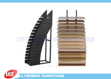 Durable Black OEM MDF Display Rack / Floor Dipslay Present For Shopping Center