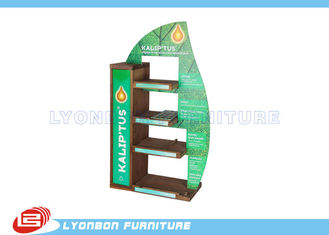 China Mall Center Green Solid Wood Countertop Display Stand MDF , 450mm * 200mm * 700mm supplier