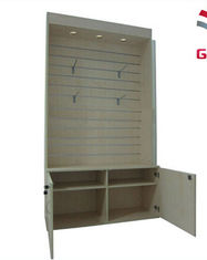 Wooden Slatwall Display Cabinet Wood Display Cabinets For Clothes