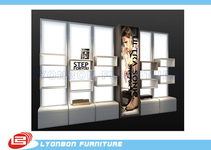 Mdf Cubicle Slatwall Gondola Display Stands For Shoes