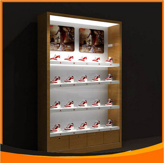 China Wood Display Cabinet For Promotion Of Shoes Supplier