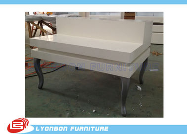 China Grocery Malls Manual Polishing Retail Display Tables With White Painted factory