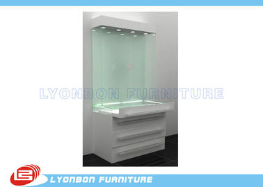 China Retail Boutique Glass And Wood Display Cabinets MDF / discount jewelry displays factory