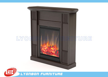 Custom Design MDF Home Decor Fireplaces Solid Wood Veneer / Paint Finished
