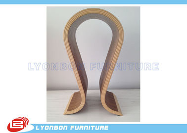 SGS ODM Curved Wood Countertop Display For Shopping Mall , Painted Surface