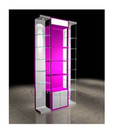 China Purfume / Diamond Necklace Wood Display Cabinets With Storage Room factory