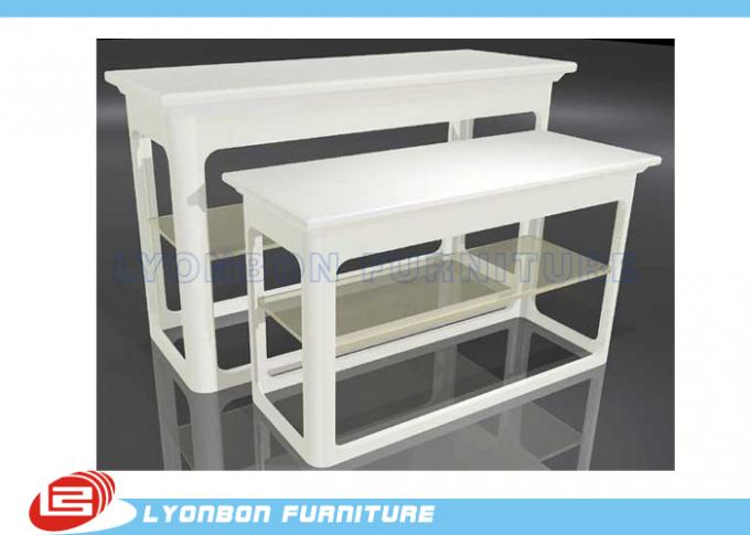 Promotion White MDF Nesting Display Tables For Retail Stores / UV Painting