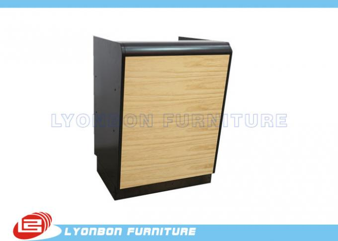 Black Wood Reception MDF Desk